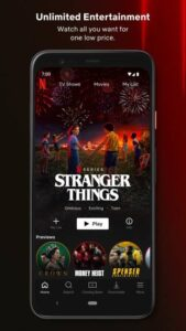 Stranger things در اکانت پرمیوم نتفلیکس