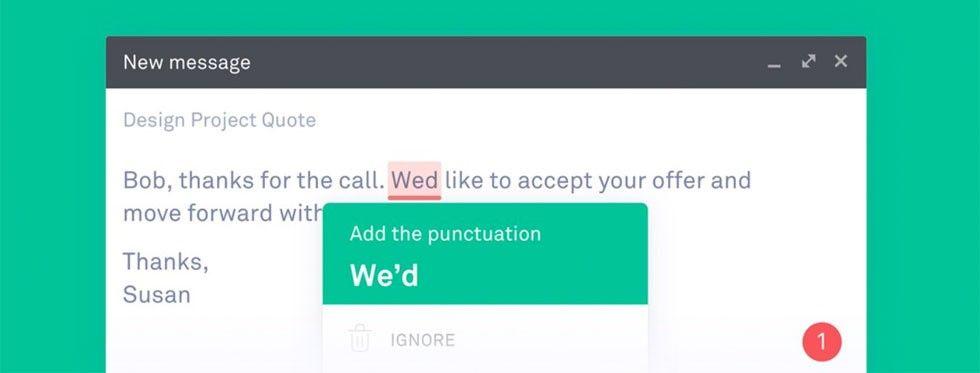 اصلاح در Grammarly