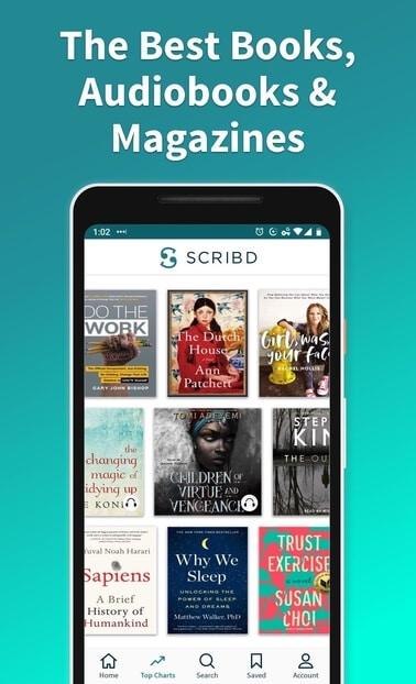 ویژگی های Scribd - بهترین کتاب ها و فایل های صوتی