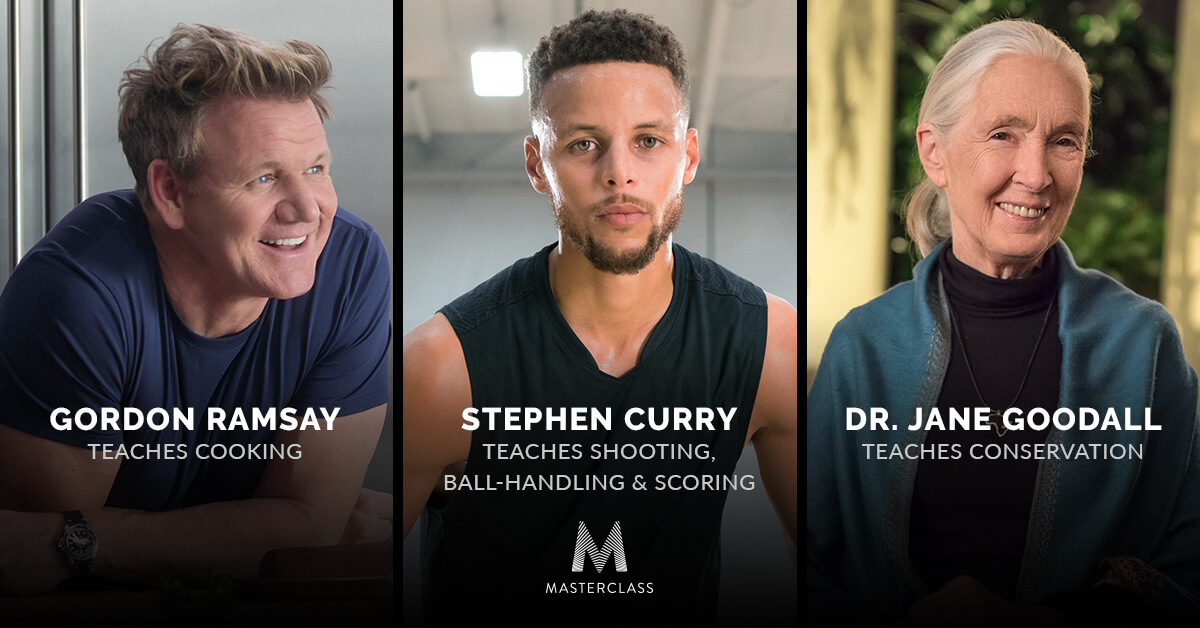 stephen curry, goron ramsay, dr jane در سایت MasterClass