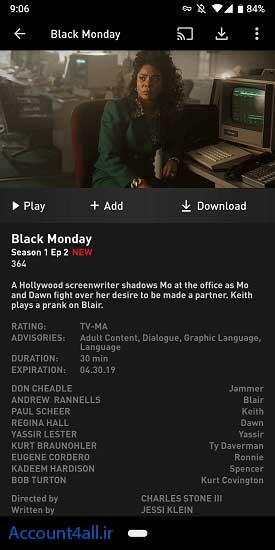 فیلم Black Monday در اکانت Showtime